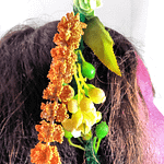 orange headband closeup
