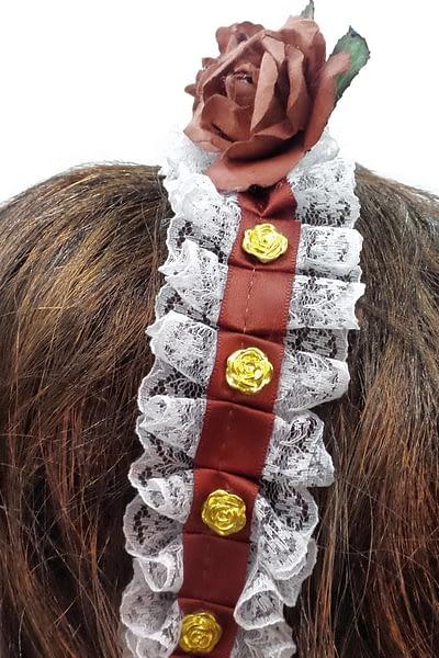 rose red headband