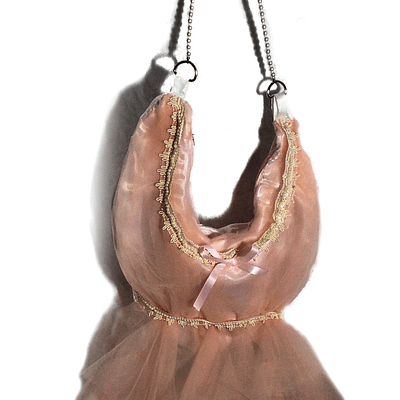 pink tulle bag front