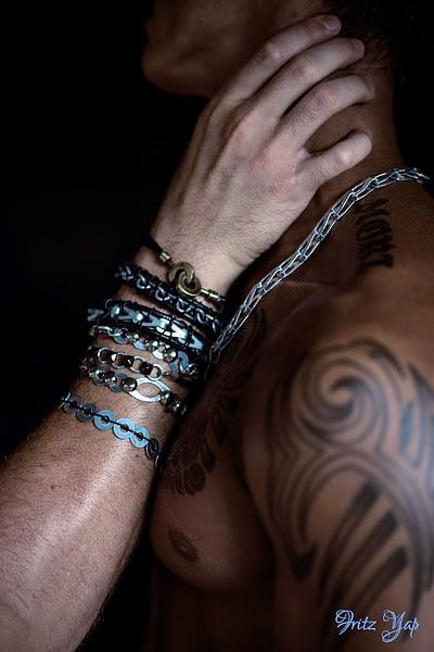 closeup bracelets