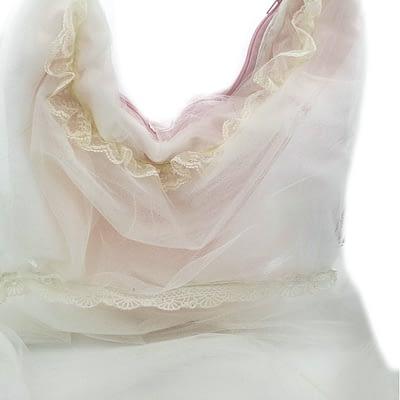 white tulle bag