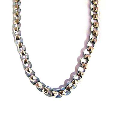 leather ball chain necklace