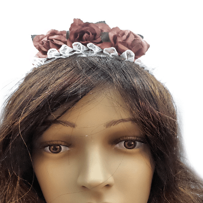 rose red headband front