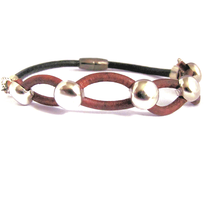 leather infinity men bracelet