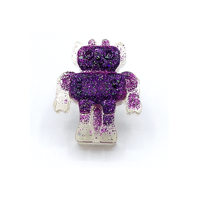 purple antenna robot ring