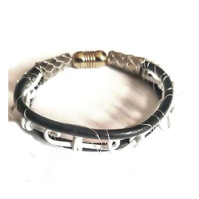 white chain men bracelet