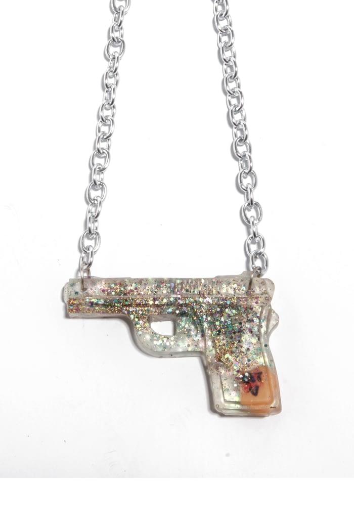 Necklace Crocheted Gun Violence Awareness Statement