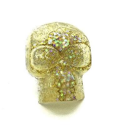 gold glitter acrylic skull ring dirty celebrity