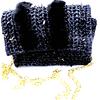 black spike bag front