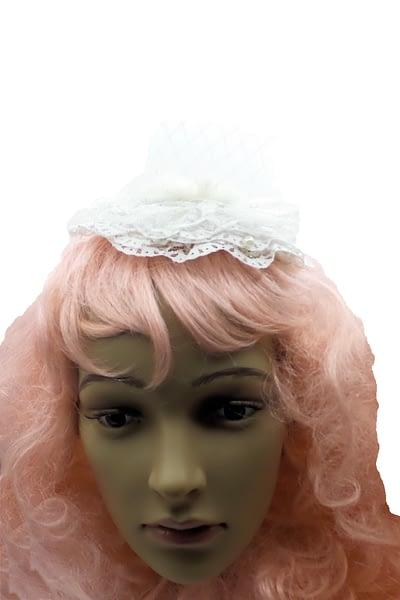 snow white tiny hat front