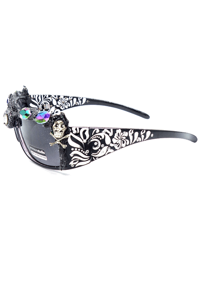 side view of skull sunnies