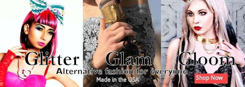 Alternative fashion in 3 parts, glitter, glam or gloom
