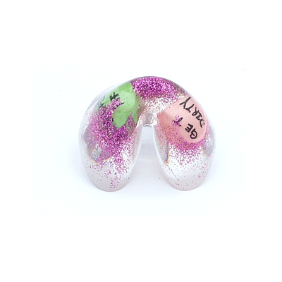 kawaii as F fortune cookie ring