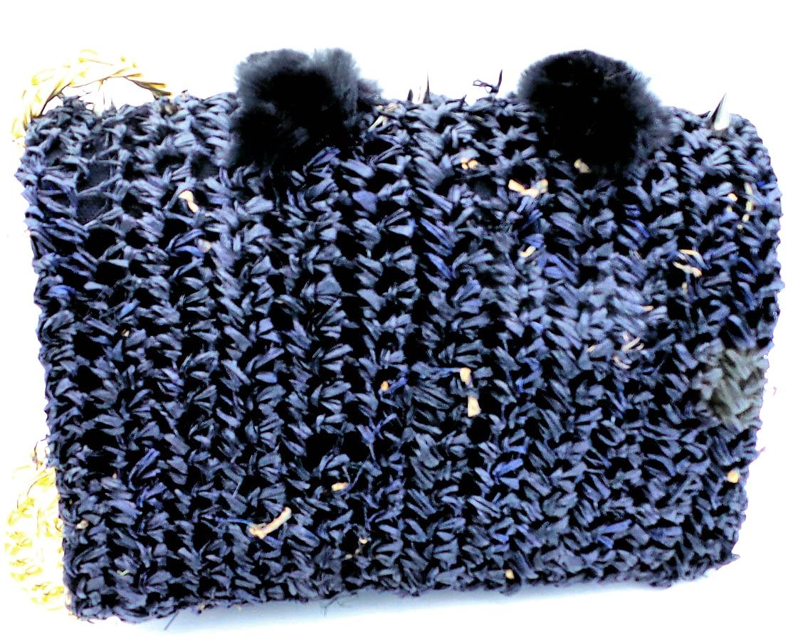 black spike bag back