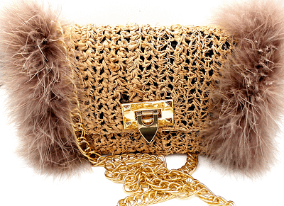 feather bag front