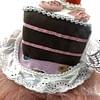 wedding cake white headband side closeup