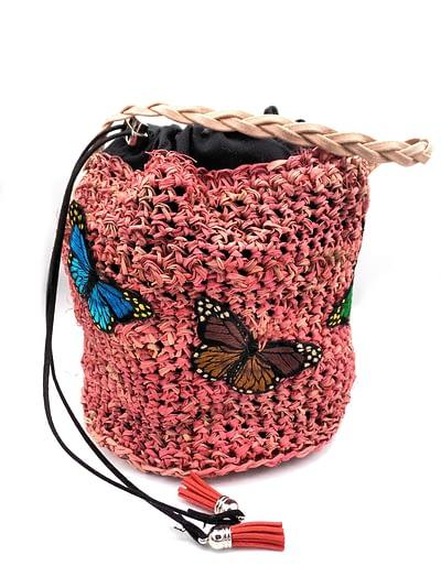 butterfly bucket bag