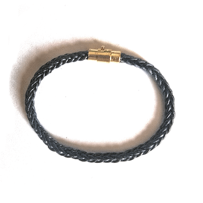 men braid leather bracelet